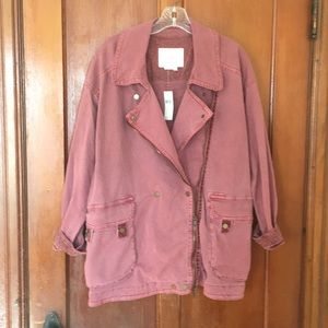 Anthropologie Relaxed Moto Jacket